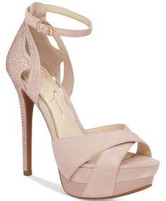 8b965f10f91 Jessica Simpson Wendah Platform Evening Sandals Shoes - Sandals   Flip  Flops - Macy s