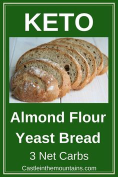 Almond Yeast Bread Keto Almond Flour Yeast Bread is low carb and ketogenic.Keto Almond Flour Yeast Bread is low carb and ketogenic. Spicy Recipes, Baby Food Recipes, Low Carb Recipes, Mexican Food Recipes, Beef Recipes, Vegetarian Recipes, Healthy Recipes, Dinner Recipes, Lunch Recipes