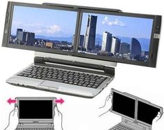 "Kohjinsha'S Dual Screen Laptop Lets You ""Program"" Anytime, Anywhere... crazy hacker laptop"