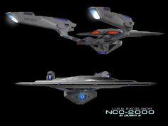USS Excelsior (Kelvin Timeline) 4 by calamitySi.deviantart.com on @DeviantArt
