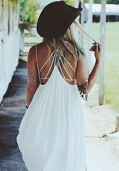 White Strappy Racerback Bralette... LOVE the back.