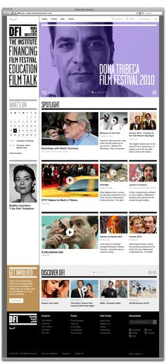 Dfi Brigitte Lacombe, Music Websites, Portal Design, Web Design, Film Institute, Web Inspiration, Doha, Interface Design, Interactive Design