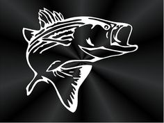 Striped Bass Decal Inch Also Available In Silver - Cool custom vinyl decals for carsfish hook die cut vinyl decal pv projects pinterest fish