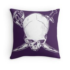 'Deadly Purple Pirate' Throw Pillow by spysee Customized Gifts, Pirates, Throw Pillows, Purple, Artwork, Design, Personalized Gifts, Toss Pillows, Work Of Art