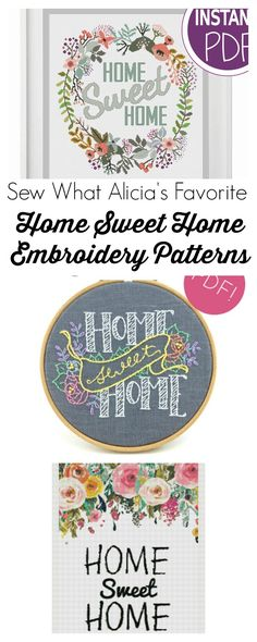 51 Best Hand Embroidery Patterns Etsy Images On Pinterest In 2018