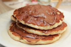 Nutella Pancakes for breakfast.
