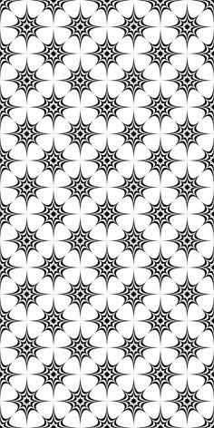 Seamless monochrome star pattern