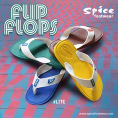 #Lite Flip Flops #footwear collections from Spice can make your walk comfortable. Select from the numerous colors at www.spicefootwear.com today!!