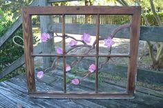 vintage window paintings