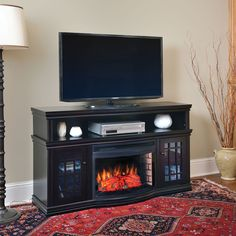 Dwyer Electric Fireplace Media Console in Espresso - MTVSC2513SE