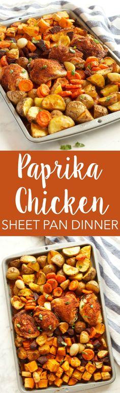 (6) Paprika Chicken Sheet Pan Dinner | Recipe
