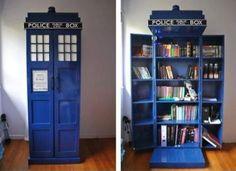 Dr. Who TARDIS Bookshelf. Whaaaaaaat?! Totally want this!!!