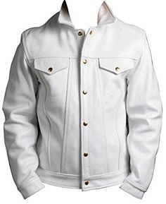 Branded Premium Real Lambskin Leather Polyester lining inside Imported Slim Fit Denim look Lambskin Leather, Leather Men, Leather Jackets, Biker Leather, Denim Biker Jacket, White Denim Jeans, Jeans Style, White Leather, Chef Jackets