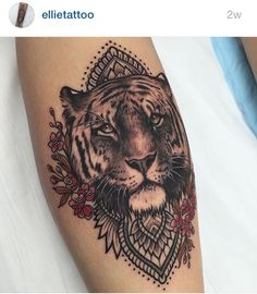 Tattoo womens hippie boho tiger