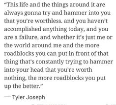 Tyler Joseph's wonderful words
