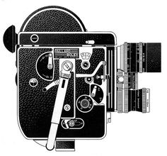 Bolex 16mm Reflex Camera Ad Line Art - 1960 by Casual Camera Collector, via Flickr