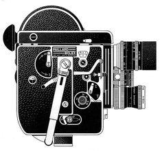 Bolex 16mm Reflex Camera Ad Line Art - 1960 by Casual Camera Collector, via Flickr
