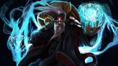 Zilean League of Legends High Definition Art Wallpaper 1920×1080