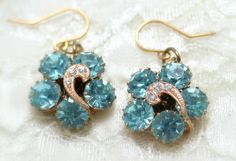 Earrings Made With Vintage Jewelry Wedding Jewelry by KDBridal