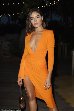 Olivia Culpo – Sports Illustrated Swimsuit Kick Off Party for the 2019 Issue Launch in Miami Beach - Olivia Culpo – Sports Illustrated Swimsuit Kick Off Party for the 2019 Issue Launch in Miami Beach Source link. Orange Dress Outfits, Orange Dress Summer, Sexy Outfits, Olivia Culpo, Robes Orange, Women's Fashion Dresses, Casual Dresses, Fashion Week, Womens Fashion