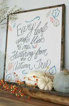 Rustic fall sign tut