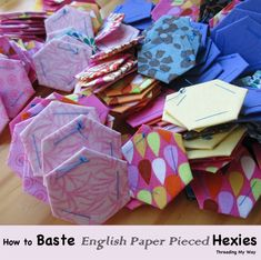 Threading My Way: How to Baste English Paper Pieced Hexies Quilting Tips, Quilting Tutorials, Sewing Tutorials, Sewing Crafts, Sewing Projects, Hand Quilting, Sewing Tips, Paper Piecing Patterns, Quilt Patterns Free
