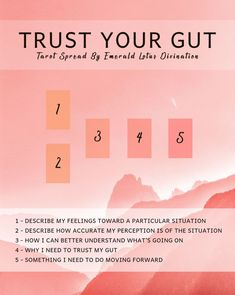 This tarot spread will not only help you trust your gut feeling but also give clarity to a situation that you might be having a hard time understanding. Tarot Significado, Tarot Card Spreads, Tarot Astrology, Trust Your Gut, Oracle Tarot, Tarot Card Meanings, Card Reading, Tarot Decks, Gut Feeling