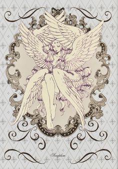 sketches of angels Art And Illustration, Illustrations, Fantasy Kunst, Dark Fantasy Art, Fantasy Artwork, Kunst Inspo, Art Inspo, Pretty Art, Cute Art