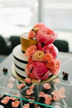 Kate Spade inspired - pink flowers - cake ideas Boulder Wedding Our Love Is Loud Photography