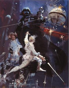"Previously unseen Star Wars posters /// from the ""Star Wars Art Series"" Books"