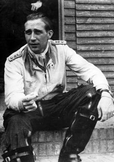 """■ Hauptmann Wilhelm-Ferdinand Galland, Adolf Galland brother, photographed in 1943 before his award of the Knight's Cross in May 1943. A most respected formation leader of II./JG 26, he is credited with 55 victories (including eight """"heavies"""") and was killed in action on 17 August 1943 near Liege."""