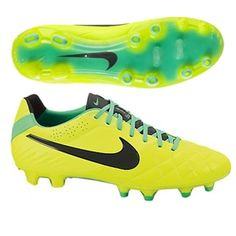 d6b4e7421acc The latest Nike Tiempo Legend IV showcases the hi-visibility VOLT to make  sure you