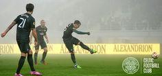 FC Astra v Celtic, November 6, 2014. Stefan Johansen fires Celtic into the lead.