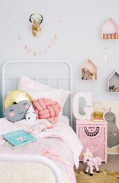 Kids bedroom, girls bedroom, little girl bedrooms. Little Girl Bedrooms, Little Boys Rooms, Big Girl Rooms, Boy Room, Girls Bedroom, Bedroom Ideas, Kids Rooms, Bedroom Decor, Scandi Bedroom