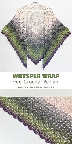 This beautiful and elegant wrap will be THE hit of the season with its beautiful layered colors, and light, airy geometrical cells. It's a challenging project One Skein Crochet, Beau Crochet, Pull Crochet, Crochet Shawl Free, Crochet Wrap Pattern, Crochet Shawls And Wraps, Crochet Scarves, Crochet Patterns, Crochet Vests