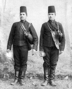 Late-Ottoman Water Carrying Soldiers. End of 19th century.
