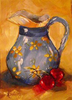 "Daily Paintworks - ""Cherry Bottom"" - Original Fine Art for Sale - © Angela Sullivan"