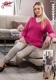 Flätstickad tröja med raglan