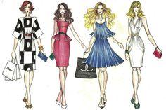 Sex And the City Silk #sexinthecity #fashion #illustration #carrie #ilustração