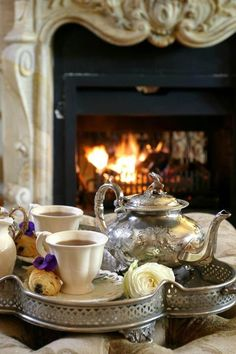 Fireside tea ~ via 'France'