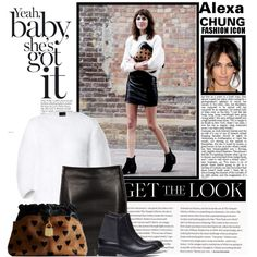 Get The Look...Alexa Chung by stylejournals on Polyvore featuring moda, Fendi, SELECTED and Burberry