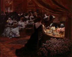 Giuseppe De NITTIS - Il salotto della Principessa Matilde, 1883