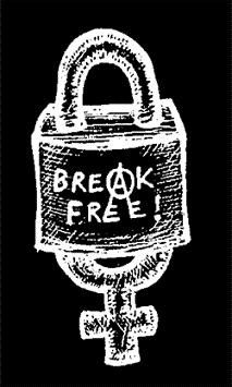 """Break Free"" Anarchism /Anarcha-Feminism T-Shirt ( #Justice #Revolution ) Also Available: https://www.no-gods-no-masters.com/A-101973256/t-shirt-feminism-anti-sexism-pro-choice-queer & http://rebellion-tshirts.spreadshirt.com/men-s-t-shirt-A7160779/customize/color/2"