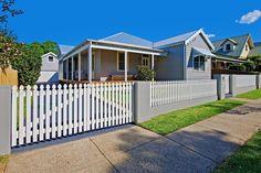 Blue weatherboard house 9 George Street Thirroul @ domain.com.au