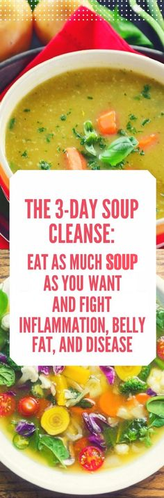 There are many benefits soup cleanses can provide to you including reduced inflammation increased energy levels disease prevention cell rejuvenation weight loss and lest but not least clear skin. Clean Eating, Stop Eating, Healthy Eating, Healthy Food, Diet Recipes, Cooking Recipes, Healthy Recipes, Cleanse Recipes, Recipes Dinner