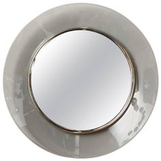 Fontana Arte Smoke Mirror Made in Milan | From a unique collection of antique and modern convex mirrors at https://www.1stdibs.com/furniture/mirrors/convex-mirrors/