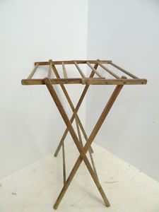 Antique Thrifted American Folding Clothes Drying Rack. Great Small Space  Dryer.