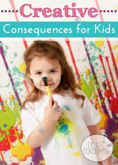 """Creative consequences for kids...ideas from the experts and the trenches. Never again find yourself disappointed with the age-old """"time-out."""""""