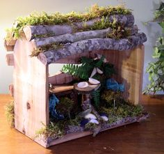 Woodland Fairy House Cafe Goes to the Beach by BetweenTheWeeds,