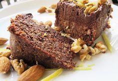 """Negresa raw-vegana cu crema de """"ciocolata"""""""